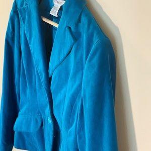 GEORGE Turquoise Blue Suede Blazer